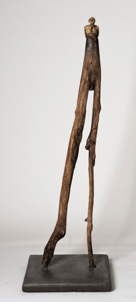 Le flâneur (2014) (126 x 40 x 40 cm)