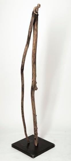 Le passeur (2012) (210 x 34 x 24 cm)