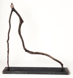 Le déraciné (2014) (132 x 122 x 30 cm)